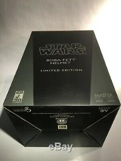11 MASTER REPLICAS BOBA FETT Helmet Life Size Star Wars Mandalorian Anovos EFX