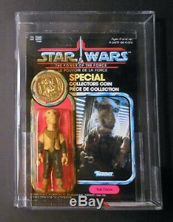1985 Star Wars Power of the Force Yak Face 92 Back MOC AFA 90