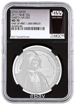 2017 Niue Silver Star Wars Vader $2 NGC MS70 1/First 1,000 Black SKU48064