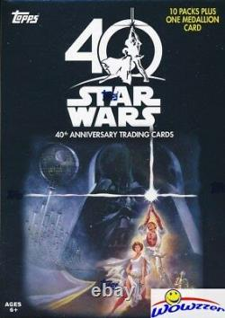 2017 Topps Star Wars 40th Anniversary EXCLUSIVE Sealed Blaster Box-MEDALLION