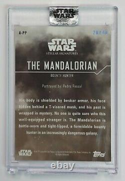2020 Topps Star Wars Stellar Autograph PEDRO PASCAL as MANDALORIAN Auto 26/40