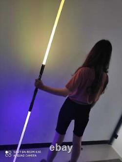 2in1 RGB Star Wars Lightsaber Sword Fx Dueling Force 16 Colors Change Metal Hilt