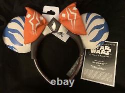 Ahsoka Tano Minnie Mouse Ear Headband Ashley Eckstein Disney Star Wars