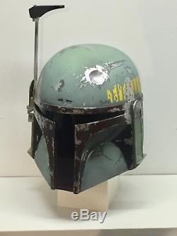 Boba Fett Helmet ESB Hand Painted Fiberglass Star Wars kit armor mandalorian