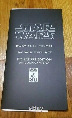 Boba Fett Master Replicas Helmet Signature Edition Star Wars Episode V