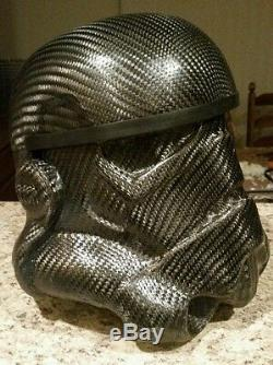 Carbon fiber stormtrooper helmet. PLEASE READ DESCRIPTION BEFORE PURCHASING