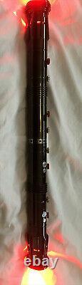 Custom Darth Maul Star Wars Aluminum Lightsaber Double blades RGB LED with Sound
