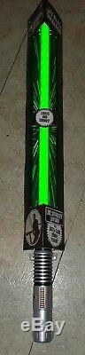 Disney Parks Star Wars Luke Skywalker Green Lightsaber Lights Sounds FX 34 FAST