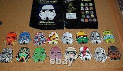 Disney Pin Star Wars Stormtrooper Helmets Mystery Complete Set 16 Pins