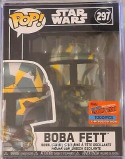 Funk Pop Star Wars Boba Fett 297 NYCC 2020 Con Sticker 1000 pcs
