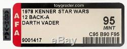 HIGHEST Graded STAR WARS DARTH VADER 12 BACK-A AFA 95 MINT MOC 1978 Kenner