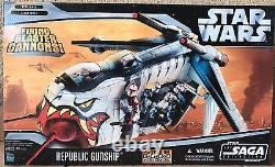 Hasbro Star Wars Clone Wars Saga Collection Republic Gunship RARE NEW