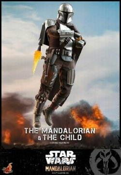 Hot Toy 1/6 TMS014 Star Wars Mandalorian And Children's Model Toy Collectibles