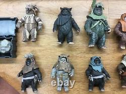 Huge Star Wars Rare Ewok Army Action Figures Lot Vintage Collection