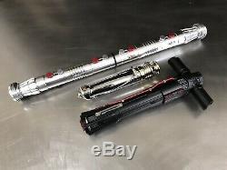 Kylo Ren Darth Maul Sidious Sith lightsaber hilt prop set not Graflex 2.0