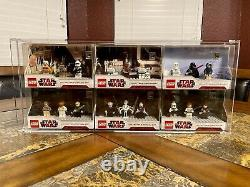 Lego Star Wars Collectible Display Sets 2009 Exclusive Sdcc Afa Case Uber Rare