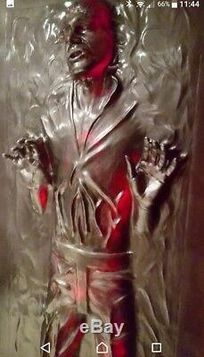 Life Full Size Han Solo In Carbonite The Thaw Prop Statue Star Wars 11