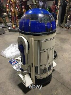 Life Size Star Wars R2D2 Cooler 11 With Optional Top and Original Paperwork