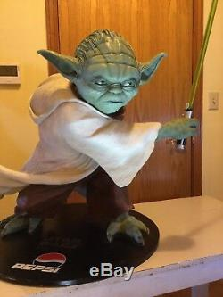 Limited edition life size Yoda statue (Pepsi) 70 Lbs, 44 Tall