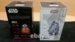 Lot of 2 Star Wars Sphero Disney App-Enabled Droid R2-D2 BB-8 Excellent Cond