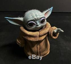 Mandalorian Baby Yoda Star Wars figure doll Hand painted by Scott Spillman