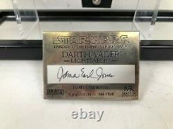 Master Replicas Signed Darth Vader/James Earl Jones Lightsaber 144/500 Signature