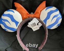 NEW Ahsoka Tano Minnie Mouse Ears Headband Ashley Eckstein Disney Star Wars ear