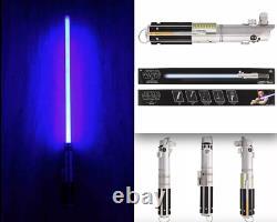NEW DISNEY PARKS Star Wars REY LUKE ANAKIN Lightsaber withRemovable Blade & Stand