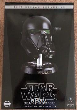NEW IN BOX 2017 Nissan Exclusive Star Wars Death Trooper Helmet