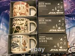 NEW -Star Wars Starbucks Been There Series Mug Set Of 3 Tatooine, Batuu & Endor