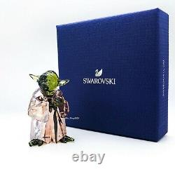 New SWAROVSKI Disney Star Wars Master Yoda Crystal Figurine Display 5393456