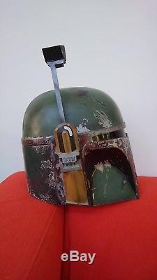 Professionally Painted Boba Fett Costume Prop Cosplay Helmet