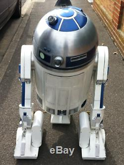 R2-d2 R2d2 Life Size Metal Full Working Star Wars Movie Film Tv Prop Droid Rare