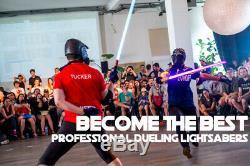 RGB 11 Colours Professional Dueling Metal Hilt Lightsaber Jedi Sith Vibrate SFX