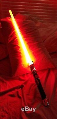 Red Spectre Lightsaber (Battle Ready) ultrasaber metal prop star wars kanan