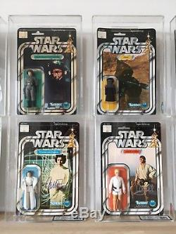STAR WARS 12 back Vintage Sammlung 1977-1978 AFA UK, vintage collection MOC