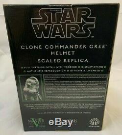STAR WARS Revenge Sith Master Replicas CLONE COMMANDER GREE 145 scale HELMET