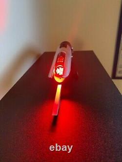 Saberforge Bane Mk2 Lightsaber (Silver/Black Warrior Red LED)