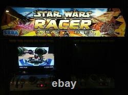Sega Star Wars Racer Arcade pod Sit Down Video Game RARE Collectible HIKARU