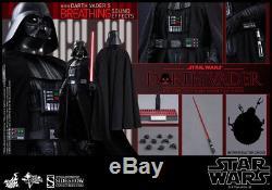 Sideshow Hot Toys Star Wars IV New Hope Darth Vader Figure 1/6 MIB Lights/Sound
