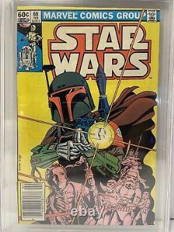 Star Wars 68 Not 42 CGC 9.2 Origin Of Boba Fett! Newsstand! Disney + This Fall
