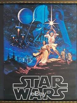 Star Wars A New Hope Art Poster Hildebrandt 20 x 28 1977 Original Vintage