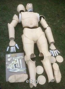 Star Wars A New Hope High Quality Unpainted Fiberglass Life Size C3p0 Statue Kit