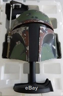 Star Wars Boba Fett Life-size Helmet Ep. V Limited Edition Master Replicas, Cib