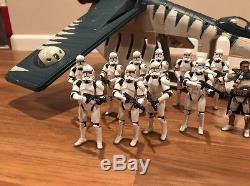 Star Wars Clone Wars Tiger Shark Republic Gunship Saga Collection 2006 Clone Lot