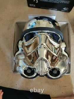 Star Wars EFX 40th Anniversary Stormtrooper Chrome Helmet SDCC EXCLUSIVE EDITION