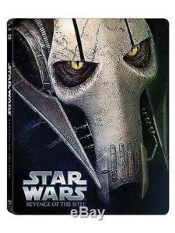 Star Wars Episodes I II II IV V VI Complete SteelBook Collection Blu-ray NEW