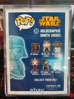 Star Wars FUNKO POP! #33 Holographic Darth Vader Vinyl Bobble Head GITD