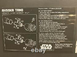 Star Wars Galaxy's Edge Lightsaber Hilt Ahsoka Tano Legacy Disney NO BLADE
