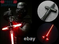 Star Wars Lightsaber Cross Sword Heavy Fx Dueling Force Metal Handle Jedi Cos